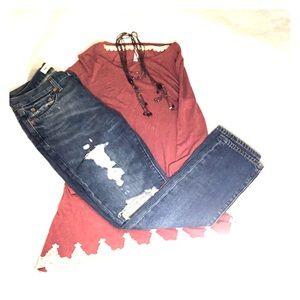 "NWOT Gap Relaxed Boyfriend Button Fly Jeans 24"""
